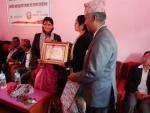 आदरणीय मेयर श्रीमती सिमा छेत्री साथै उपमेयर श्री महेश पुरी माननीय स्वास्थ्य तथा जनसंख्या मन्त्रि  श्रीमती पद्ममा अर्याल ज्यू लाइ सम्मान गर्दै